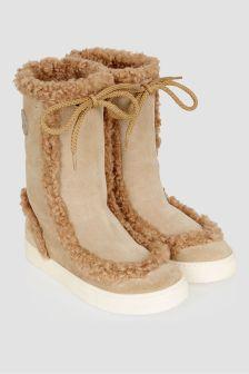 Moncler Enfant Girls Beige Insolux Snow Boots