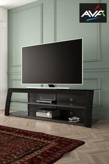 Kivu 1.82m Black Wood and Glass TV Stand By AVF
