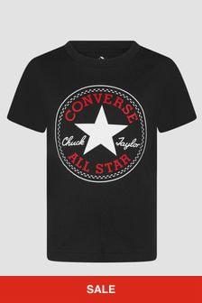 Converse Boys Black T-Shirt