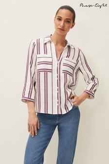 Phase Eight Purple Avaline Stripe Shirt