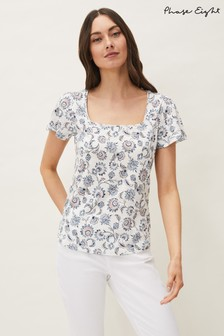 Phase Eight Multi Esther Paisley Print Top