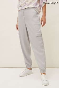 Phase Eight Grey Theodora Tapered Cargo Joggers