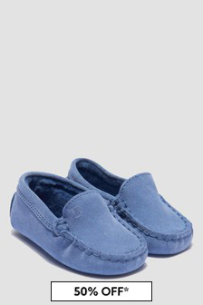Tods Baby Boys Blue Loafers