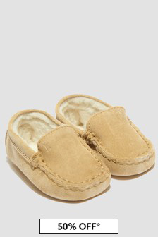 Tods Baby Girls Beige Loafers