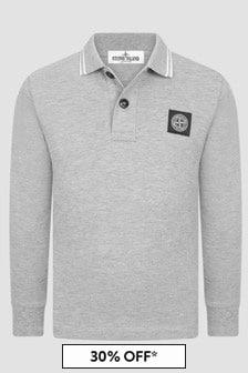 Stone Island Junior Boys Grey Polo Shirt
