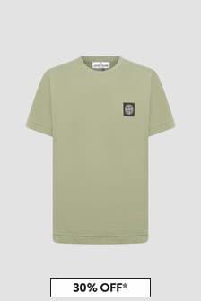 Stone Island Junior Boys Khaki T-Shirt