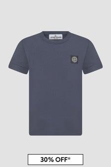 Stone Island Junior Boys Navy T-Shirt