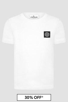 Stone Island Junior Boys White T-Shirt