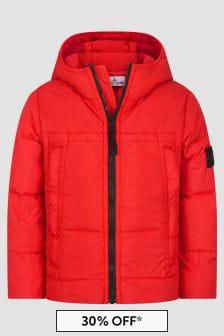 Stone Island Junior Boys Red Jacket