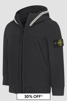 Stone Island Junior Boys Black Jacket