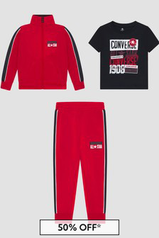 Converse Boys Red Tracksuit