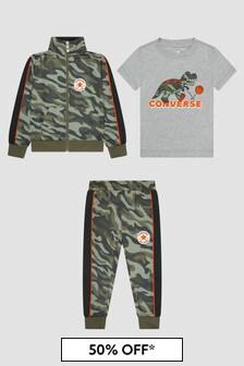 Converse Boys Khaki Green Tracksuit