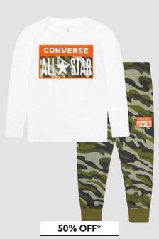 Converse Boys Black Tracksuit