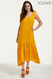 Figleaves Cannes Trapeze Midi Dress With Tie Shoulders