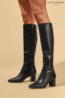 Kurt Geiger London Black Burlington Knee Boots