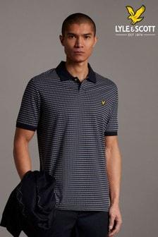 Lyle & Scott Dark Navy Retro Repeat Polo Shirt