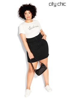 City Chic Denim Love Skirt