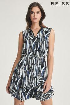 REISS Elsie Printed Mini Dress