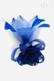 Aela Cobalt Blue Crinkle Flower Hair Clip