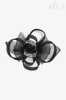 Aela Black Flower Mesh Hair Clip