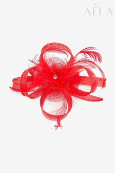Aela Red Feather Hair Clip