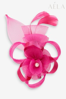Aela Fuchsia Flower Loop Hair Clip