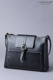 Lakeland Leather Birthwaite Black Leather Shoulder Bag