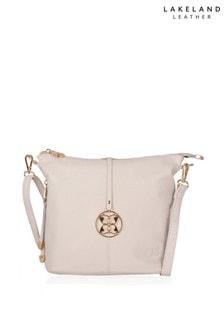 Lakeland Leather Cartmel Off-White Leather Cross Body Bag