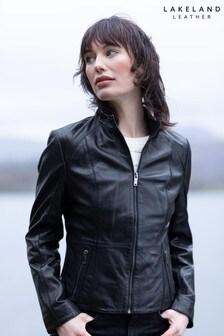 Lakeland Leather Palermo Ii Cafe Racer Black Leather Jacket