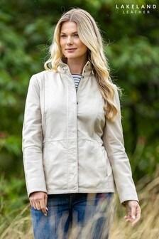 Lakeland Leather Mawbray Ivory Leather Jacket