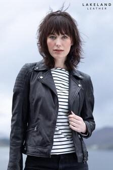 Lakeland Leather Millie Black Leather Biker Jacket