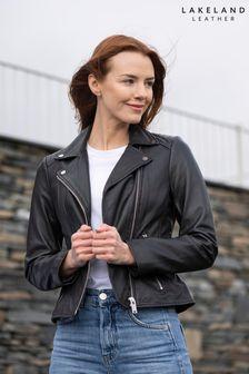 Lakeland Leather Thirlmere Black Leather Biker Jacket