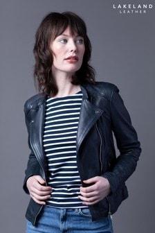 Lakeland Leather Toni Navy Leather Biker Jacket