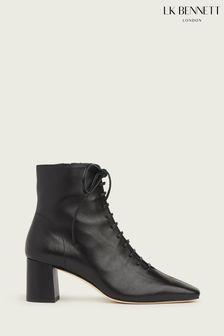 L.K.Bennett Black Arabella Open Lace-Up Boots