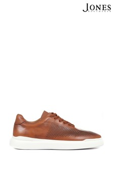 Jones Bootmaker Mens Tan Syrus Casual Leather Trainers