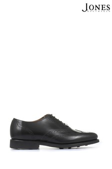 Jones Bootmaker Black Mayfair Goodyear Welted Men's Leather Oxford Brogues