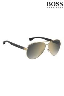 BOSS Gold Pilot Sunglasses