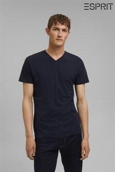 Esprit Blue Cotton Jersey T-Shirt