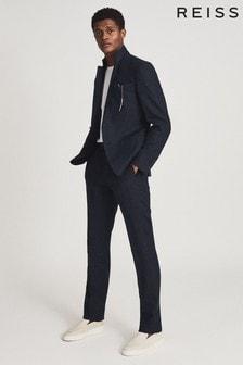 REISS Kin Linen Slim Fit Suit: Jacket