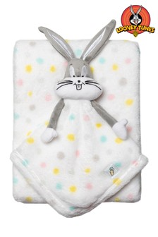 Looney Tunes Bugs Bunny White Blanket And Comforter