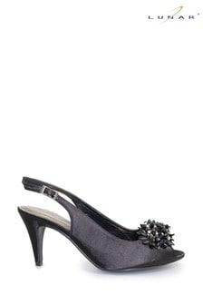 Lunar Sabrina Satin Slingback Court Shoes