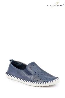 Lunar Queenie Leather Slip-On Shoes