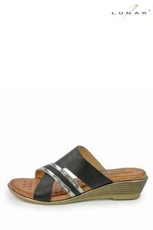 Lunar Penny Black Mule Sandals