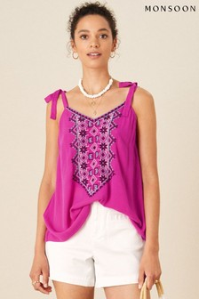 Monsoon Lana Embroidered Cami Top