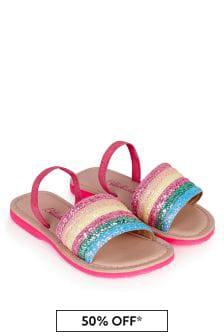 Billie Blush Girls Multicoloured Sandals