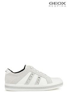 Geox White D Leelu C Shoes