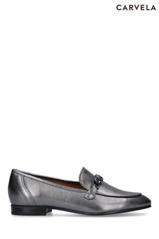 Carvela Comfort Pewter Content Chain Loafers