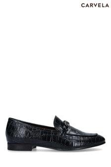 Carvela Comfort Black Content Chain Loafers
