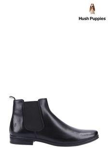 Hush Puppies Black Bryce Boots