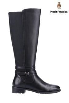 Hush Puppies Black Vanessa Calf Boots